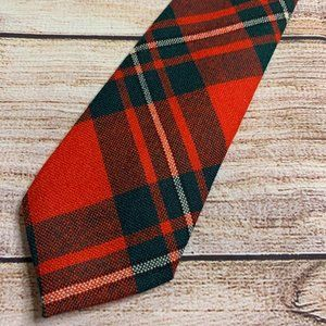Vintage Wool Scottish Plaid Men's Necktie